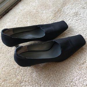 Etienne Aigner 6 Fabric Heels Black